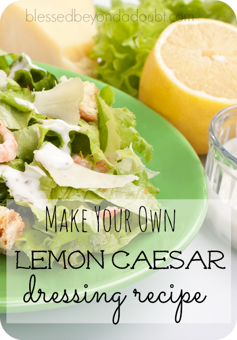 lemon ceasar dressing recipe