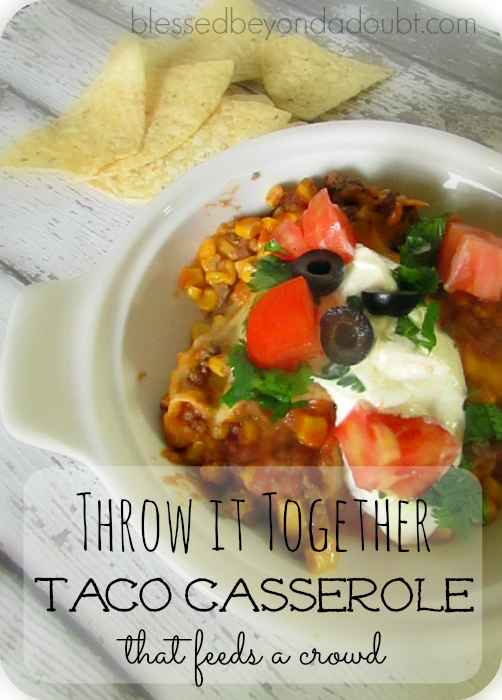 EASY Mexican Casserole Recipe!