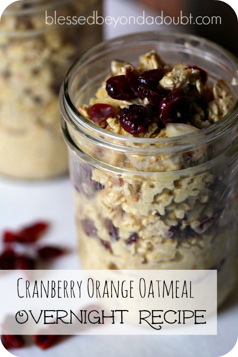 recipe for overnight oatmeal