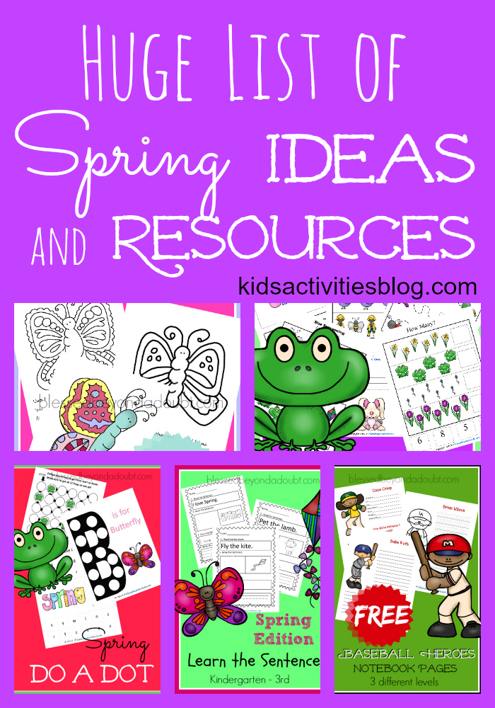 A BIG List of Spring Homeschool Resources
