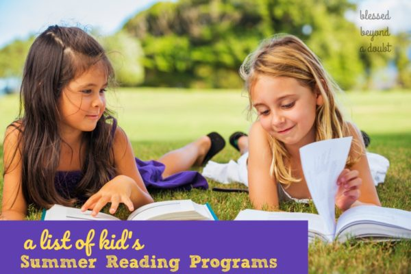 Keep your children reading this summer . Here's a the list of all the summer reading programs for kids that they can participate in. I sign my kids up for all of them.