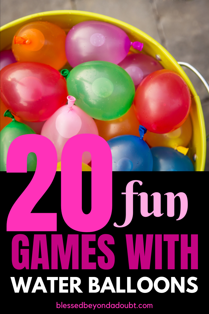 Here are 20 Kid-Approved Water Balloon Games that will make the summer fantastic! #waterballoongamesforkids #waterballoongames #waterballoonfights