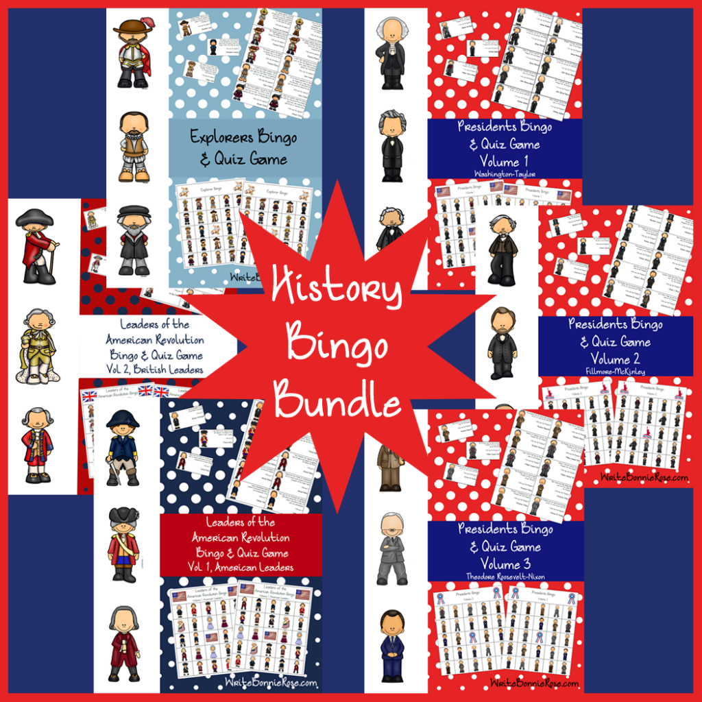 History Bingo Bundle Graphic