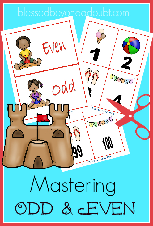 Teaching Odd and Even Numbers – Summer Edition