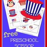 FREE 4th of July  Scissor Preschool Practice!