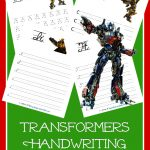 FREE Transformers Handwriting Printable Packs. Print and Cursive editions available.