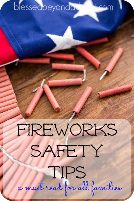 Firework safety tips for keeping safe this Independence Day. A MUST read for all families.
