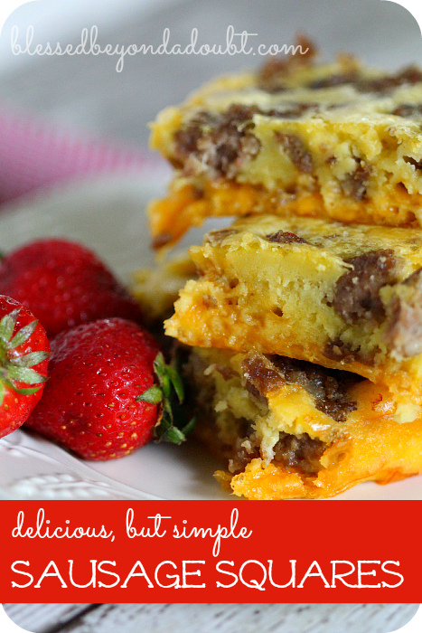 Easy sausage squares that makes a perfect brunch or dinner for a crowd.