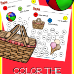 FREE Color the Sight Words – Summer Edition
