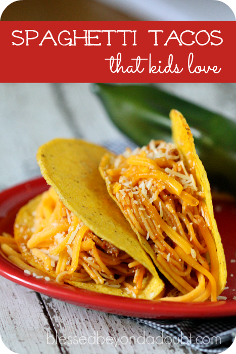 Kid Friendly Spaghetti Tacos So Easy