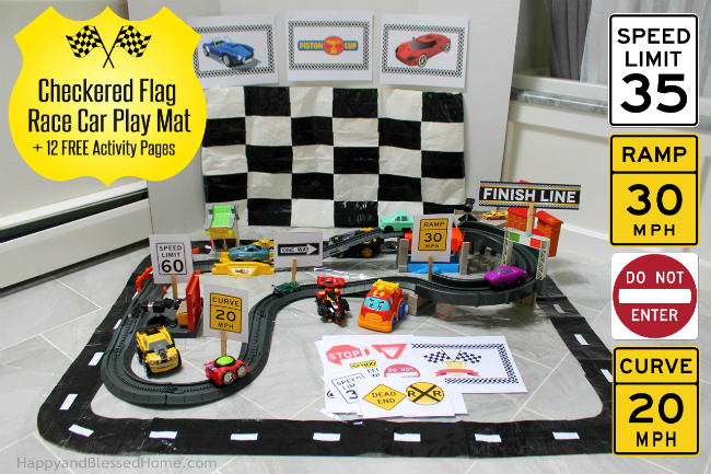 FREE Race Car Printables!