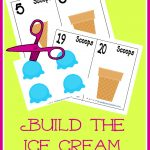 FREE Build the ice cream cone math game. Your child will learn counting and number recognition with this FUN freebie.