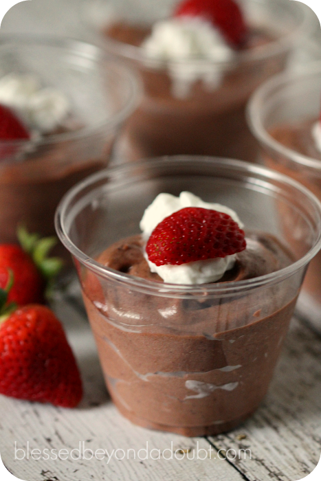My favorite chocolate mousse recipe.  It's so easy too!