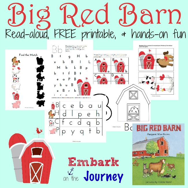 FREE Big Red Barn PreK-K Printable