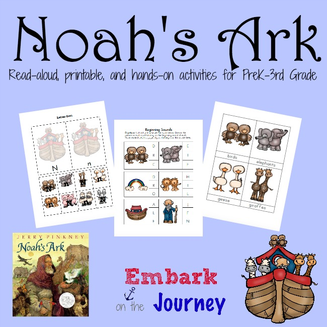 It is a photo of Impertinent Noah's Ark Printable