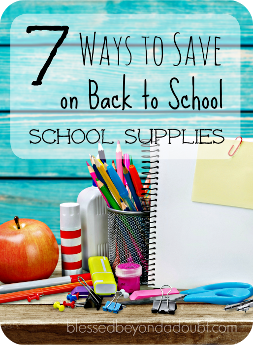 7 Ways to Save on School Supplies