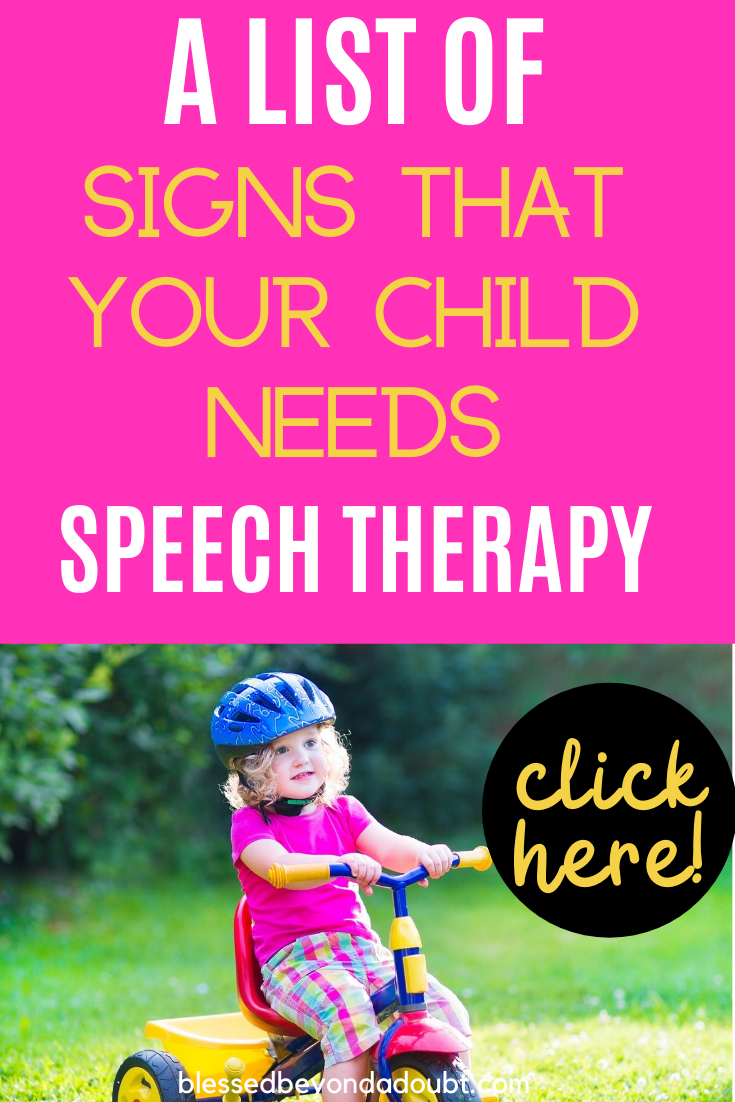 Here are 5 signs that your child might need speech therapy for toddlers. #speechtherapyfortoddlersathomelanguagedevelopment