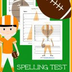 FREE Football Spelling Test Printables. Perfect for weekly pretests or homeschool families.