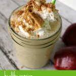 Oh so yummy apple pie smoothie! It's totally healthy minus the topping.