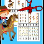 FREE Cowboy Themed Counting Cards
