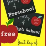 FREE First Day of School Signs