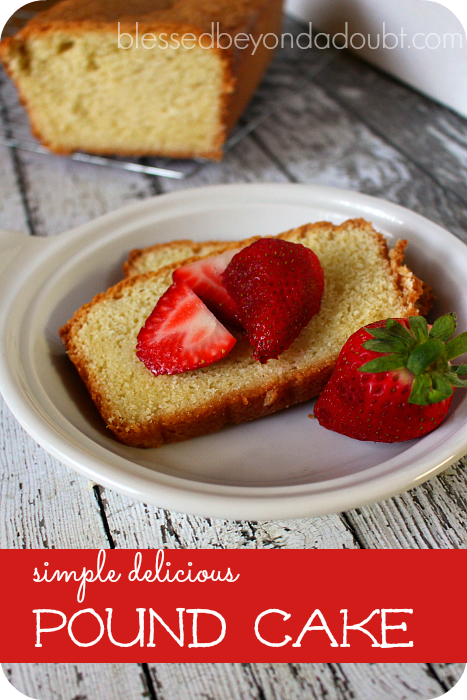 My favorite pound cake that's so simple!