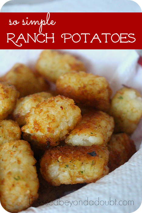 The best ranch potatoes that will be a favorite!