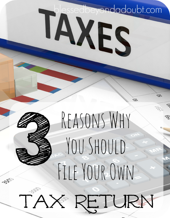 Yes, you can do your own tax returns. It will save you money, too!