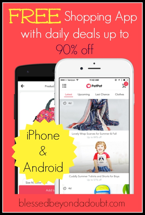 Have you downloaded the free shopping app, PatPat yet? They have daily deals up to 905 off and free shipping. Shopping just got easier for the busy mom.