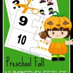 FREE Fall Preschool Number Puzzles