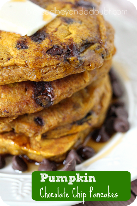 Pumpkin Chocolate Chip Pancakes 3