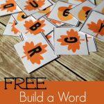 FREE Fall Letter Tiles