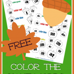 Kindergarten Color the Sight Words – Fall Edition