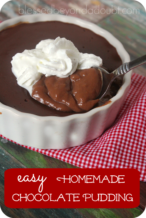 How to Make EASY Chocolate Pudding from Scratch!
