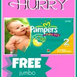FREE Jumbo Pack of Pampers Diapers!