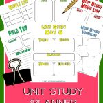 FREE Unit Study Planner Printable Set