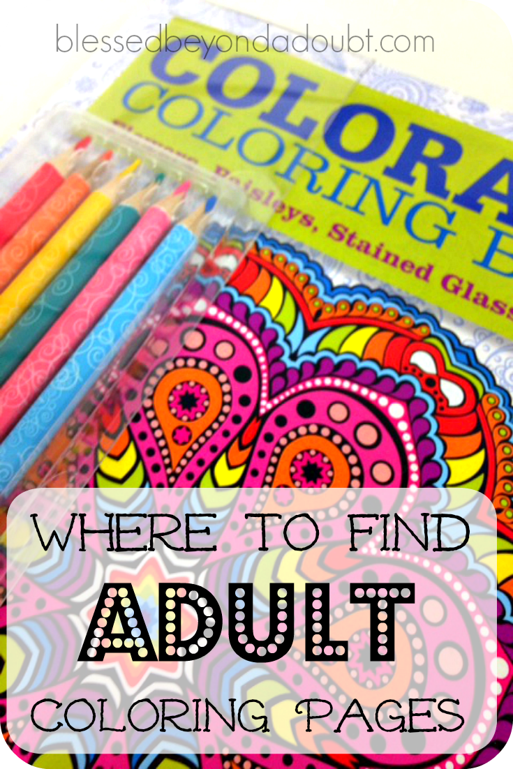 Have you tried adult coloring to ease stress and increase realxation? Adult coloring pages can be just what you need. I have compiled a list of free adult coloring pages to encourage to try this fun and creative activity. Trust me, it's addicting.