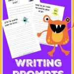 FREE Baby Monster Writing Prompts for Kids!