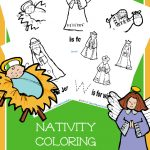FREE Nativity Coloring Pages with Handwriting