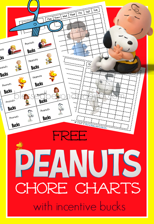 Super cute and FREE chore charts with incentive bucks for cheerful attitudes.
