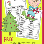 FREE Count the Syllables – Christmas Edition