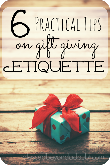 These 6 gift giving etiquette will assure you this holiday season that you are being tactful in regards to gift giving.