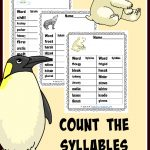 FREE Count the Syllables – Winter Edition