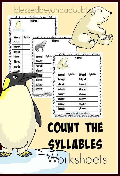 FREE count the syllables worksheets!