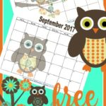 FREE 2018 and 2019 Monthly Printable Calendars – Owl Themed
