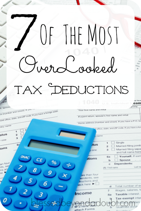 tax deductions overlooked