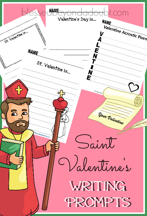 FREE Writing Prompts and Journals – Saint Valentine's Edition