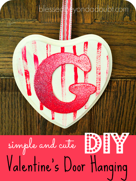 Make this adorable DIY Valentine's Door Hanging this year. They make the perfect gift for teachers and coaches. Don't forget to make one for yourself, too.