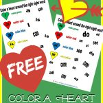 Kindergarten Color the Sight Words – Valentine's Day Edition