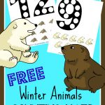 FREE Counting Mats – Winter Animals Themed